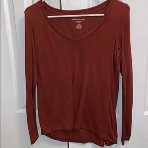 long sleeve plush top from AE
